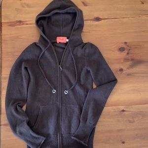 Juicy couture cashmere full zip hoody sweater